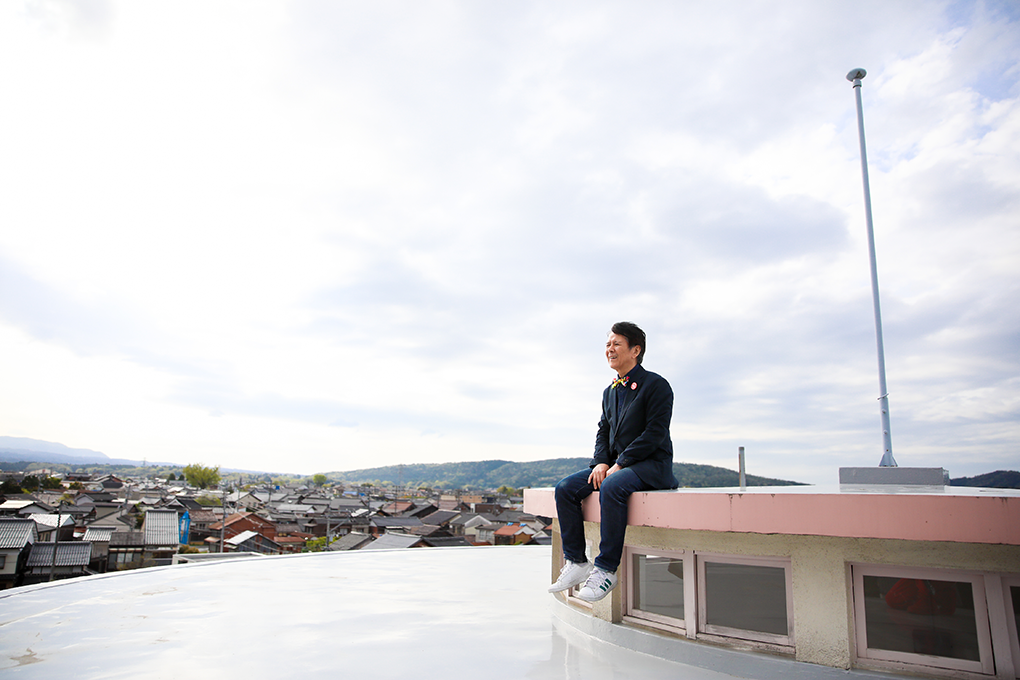 倉吉フィギュアミュージアムから見える倉吉の街並み